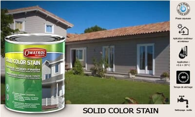 Lasure Solid Color Stain 2.5L Owatrol opaque-mate