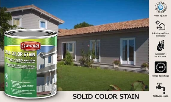 Lasure opaque mate Solid Color Stain Owatrol